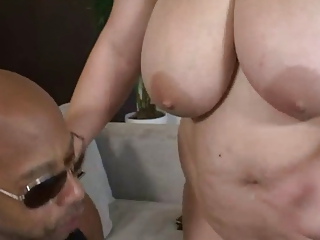 bbw takes a huge cock in her twat