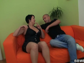 Sexy chunky gal is picked up and fucked